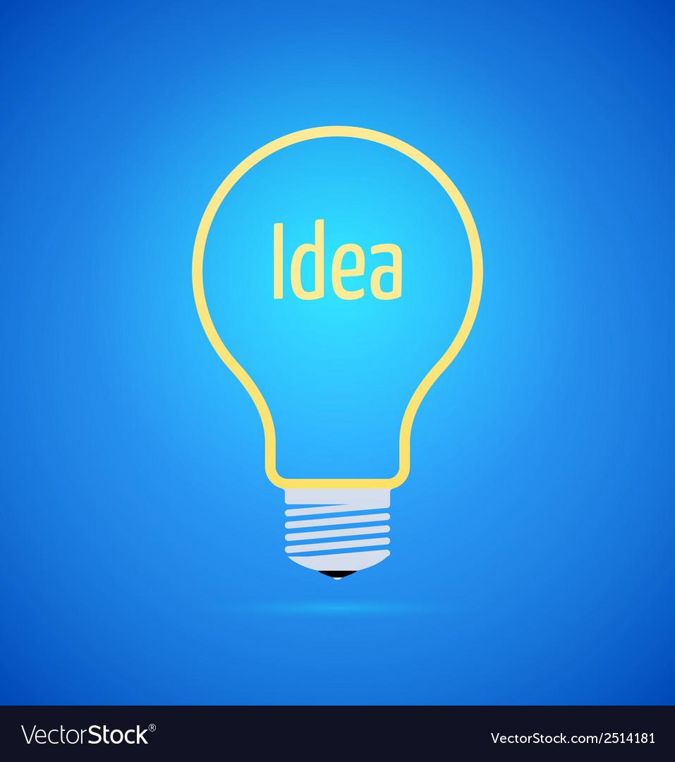 Abstract yellow bulb icon vector image
