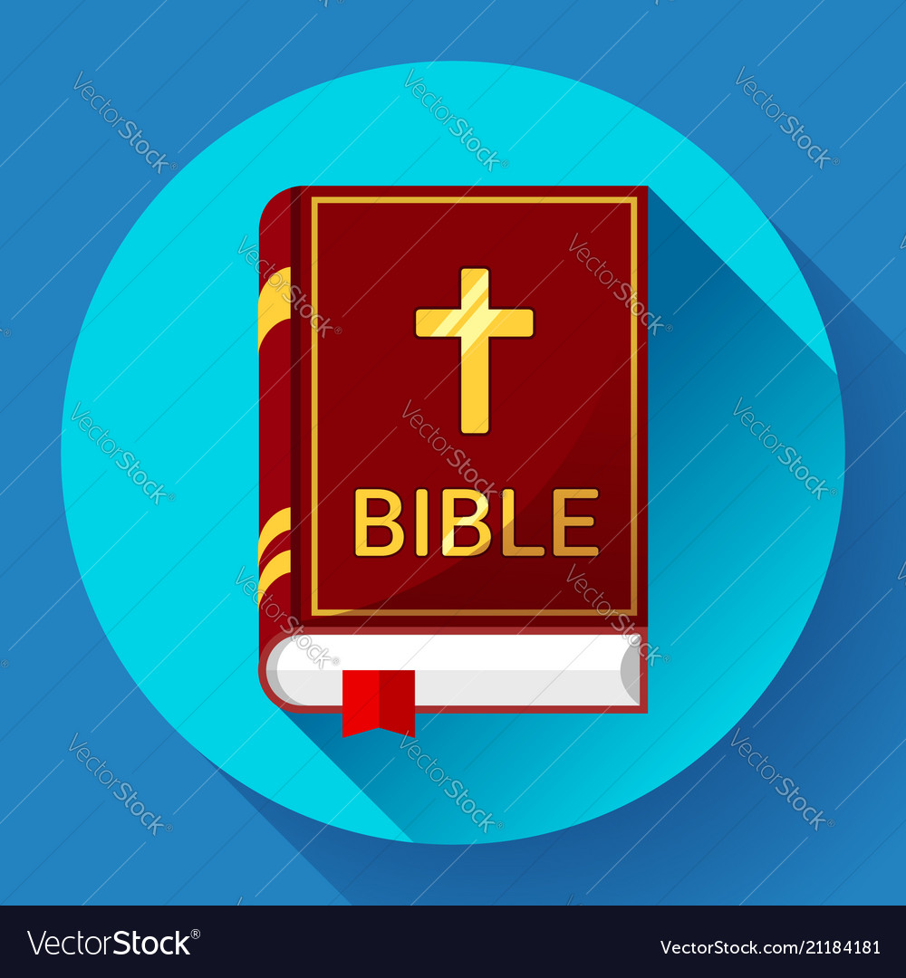 Bible icon with long shadow