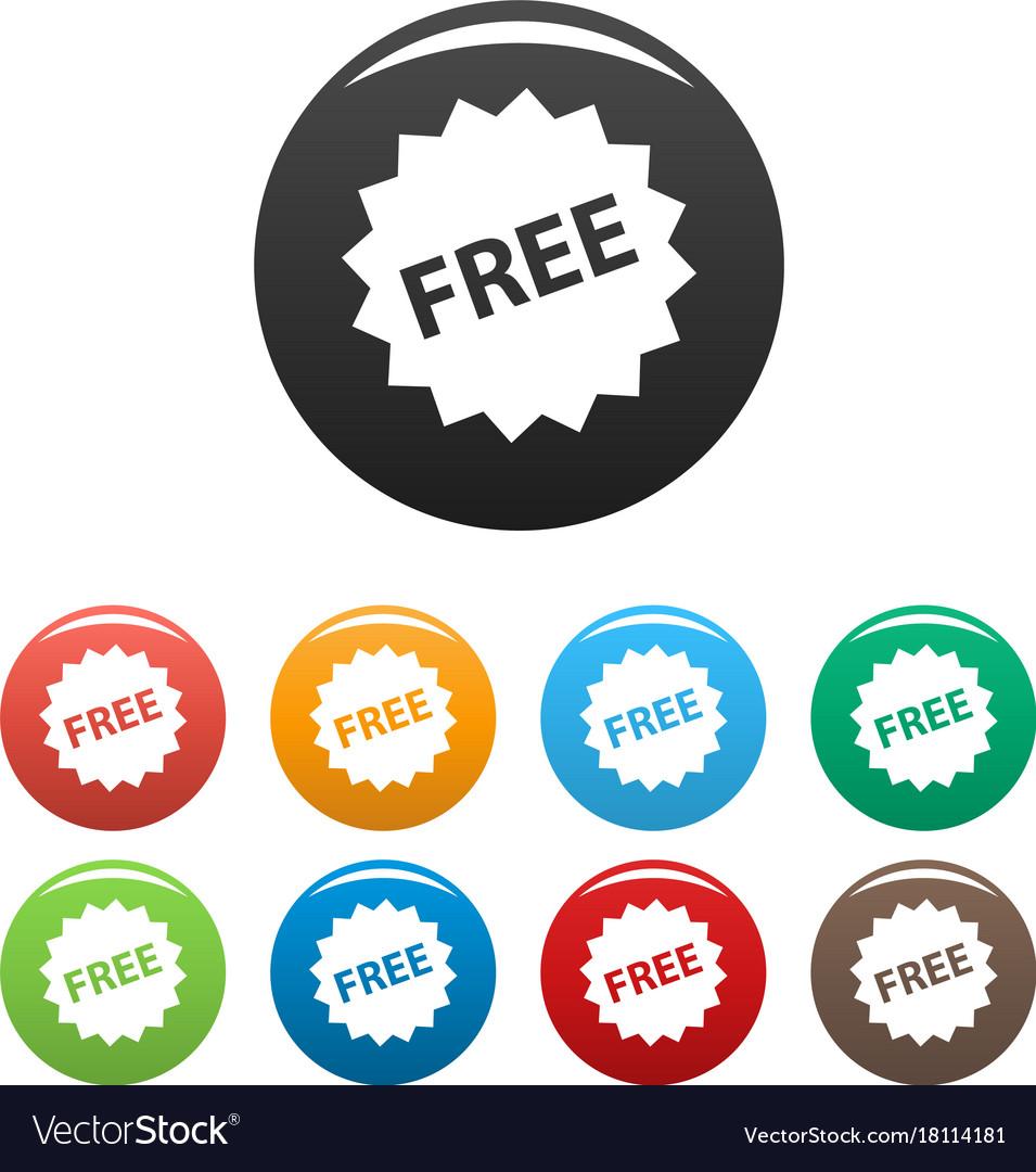 Free sign icons set