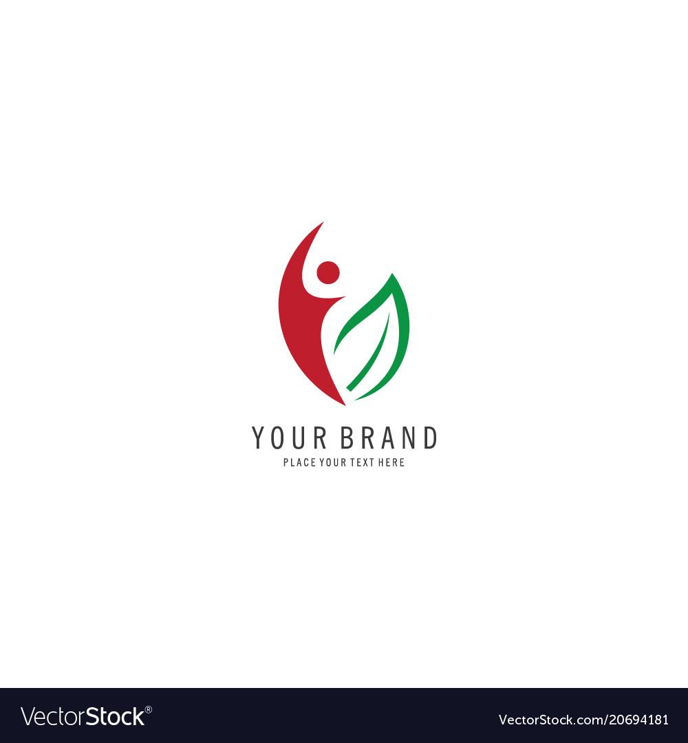 Healthy people symbol logo