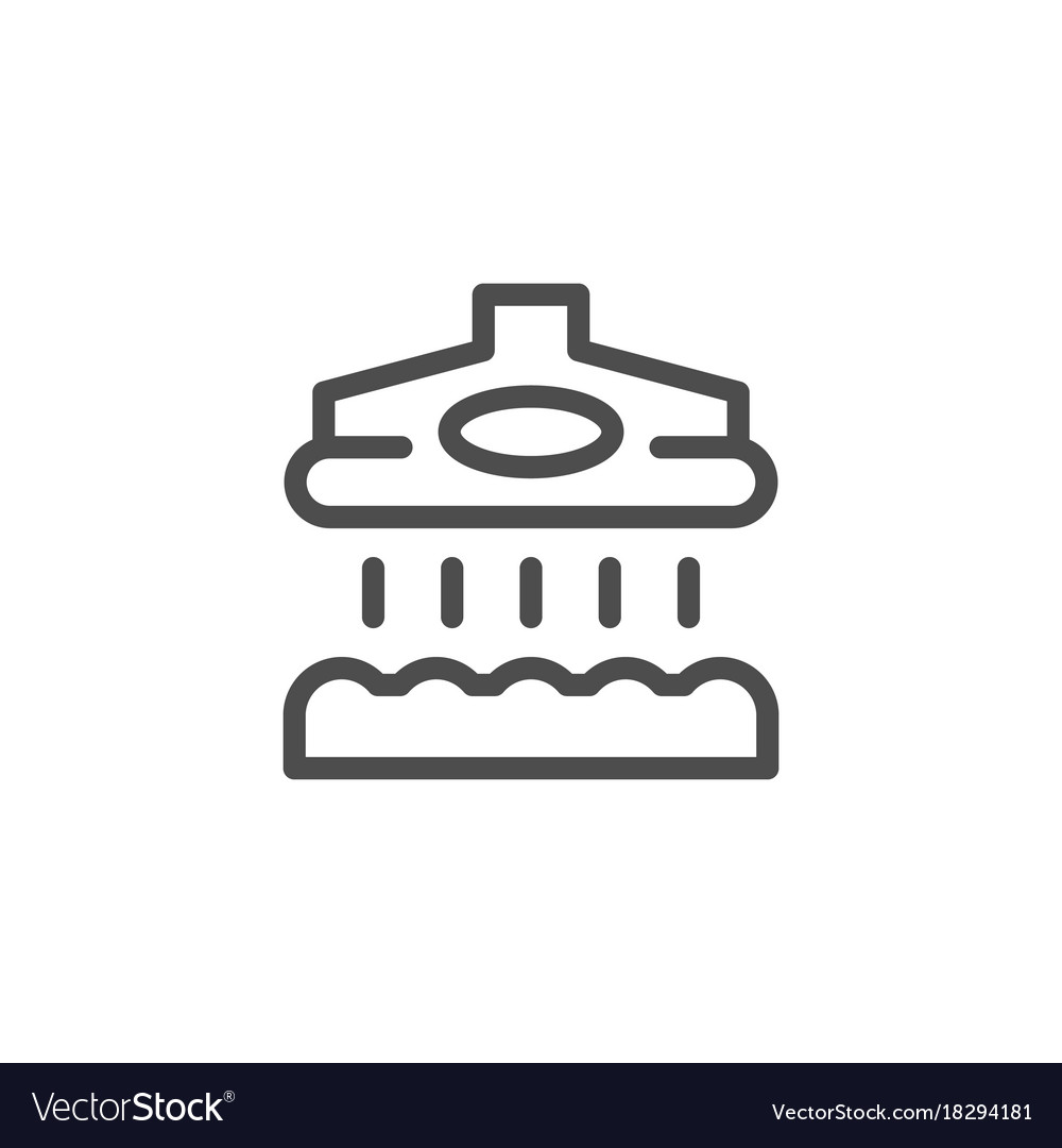 Vacuum cleaner line icon