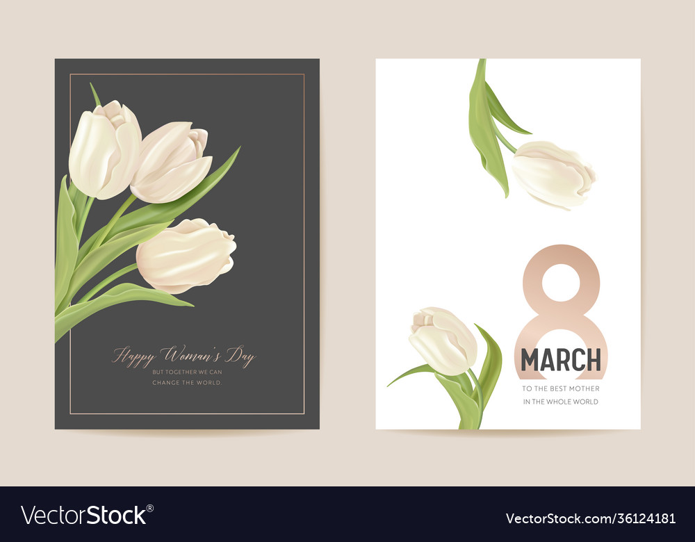 Woman day 8 march holiday card spring floral