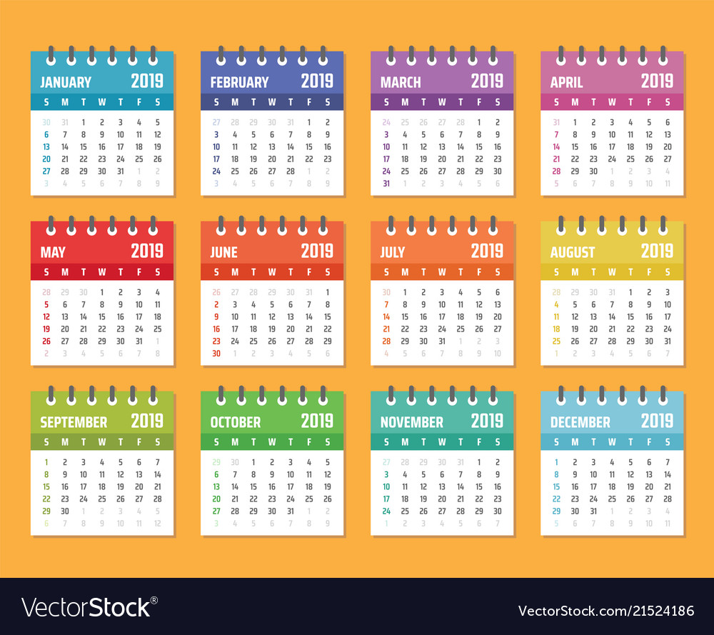 Calendar for 2019 starts sunday calendar