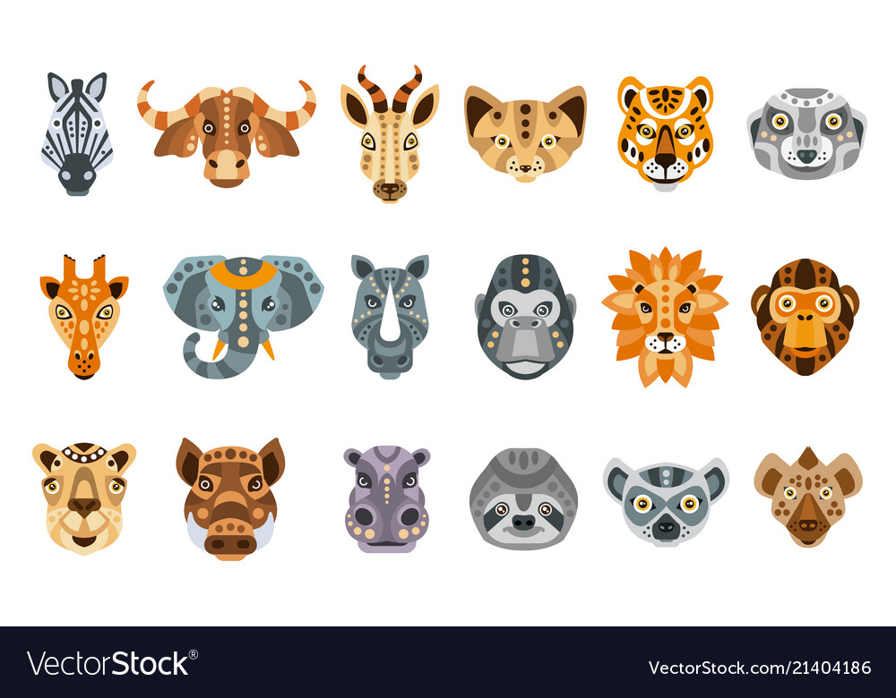 Collection of african animals made in modern flat