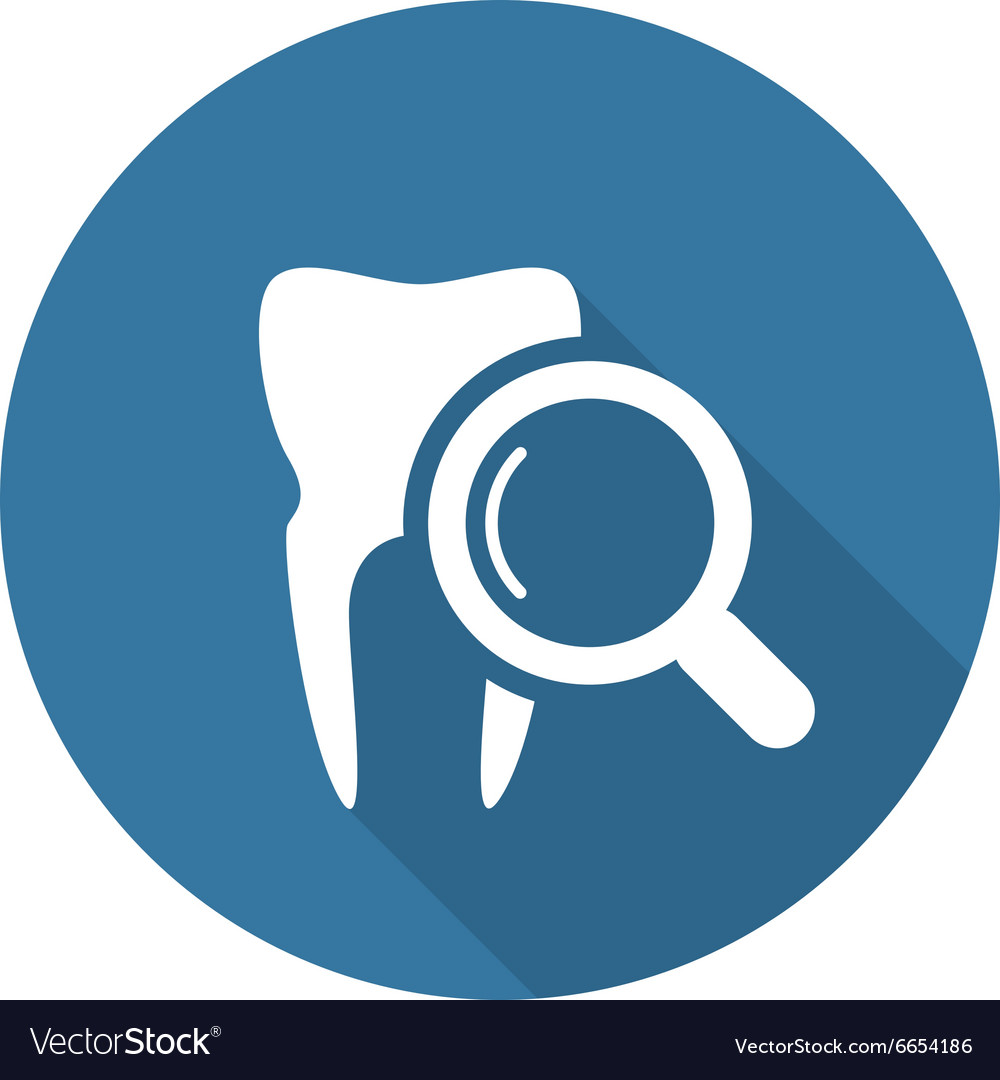 Dental Care Icon Flat Design