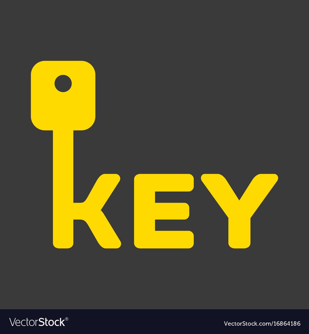 Key logo with letter k