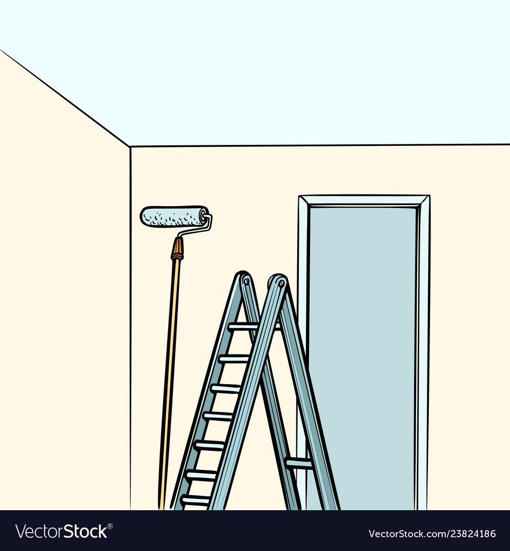 Ladder repair paint roller