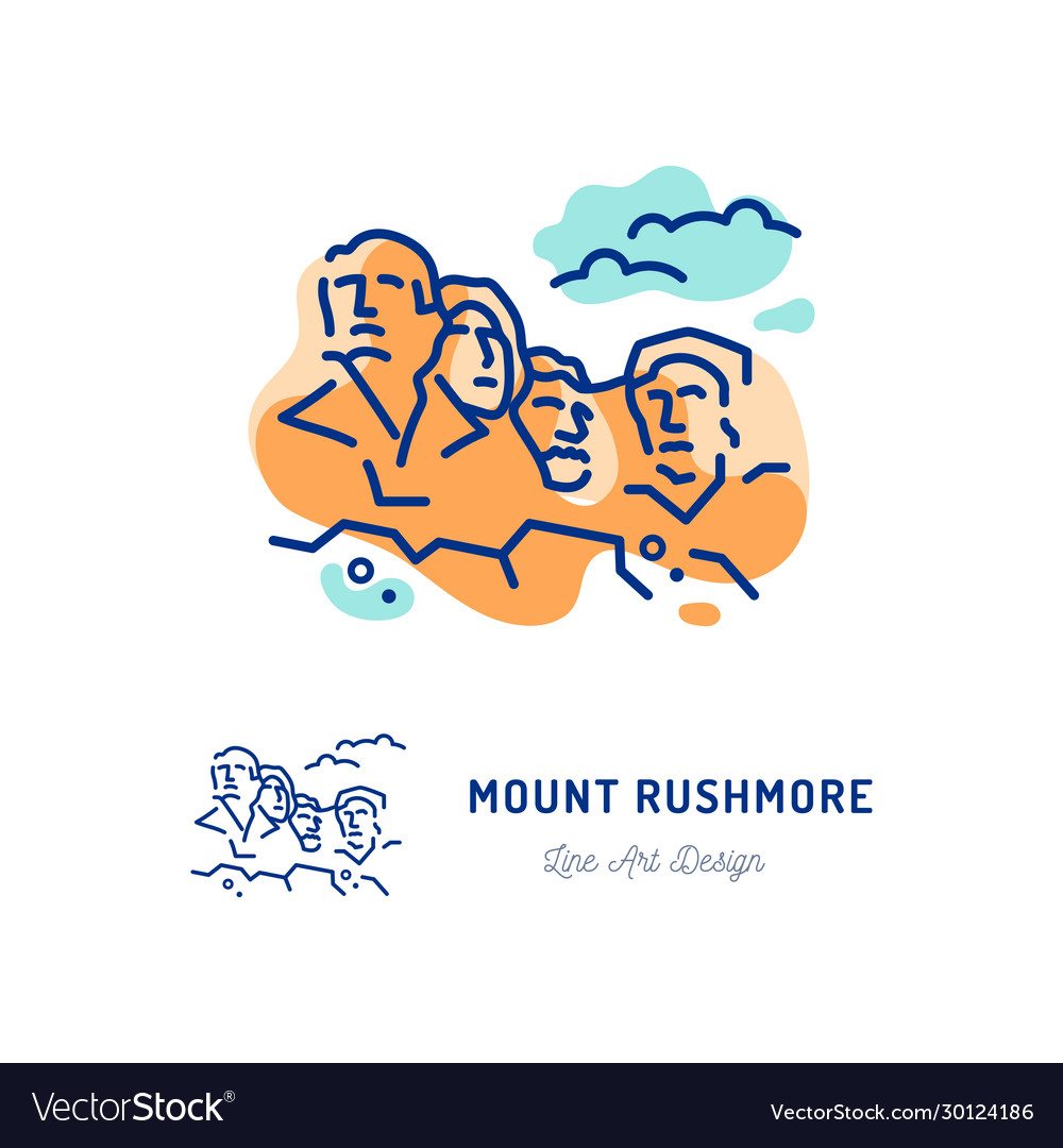 Mount rushmore national memorial travel icon