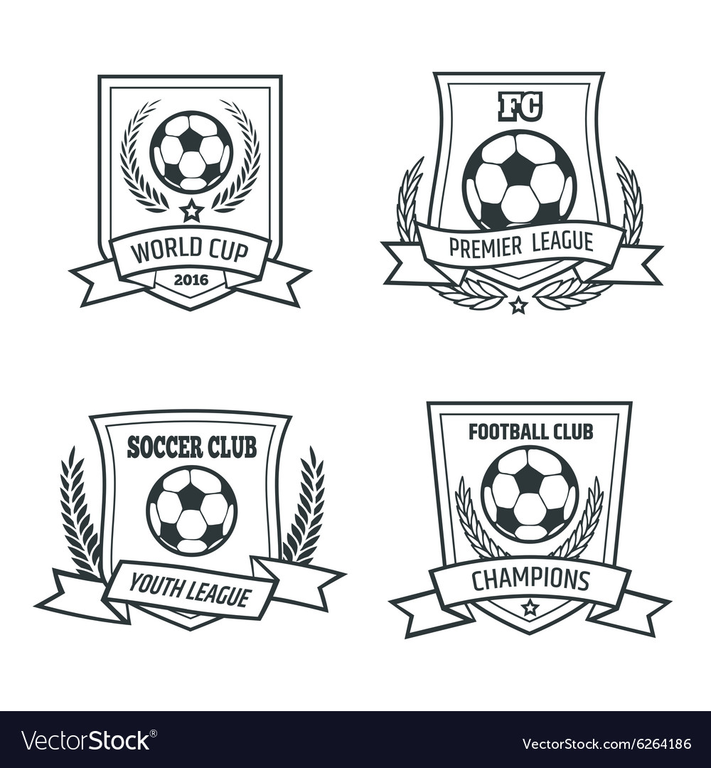 Soccer and Football Emblem Set vector image