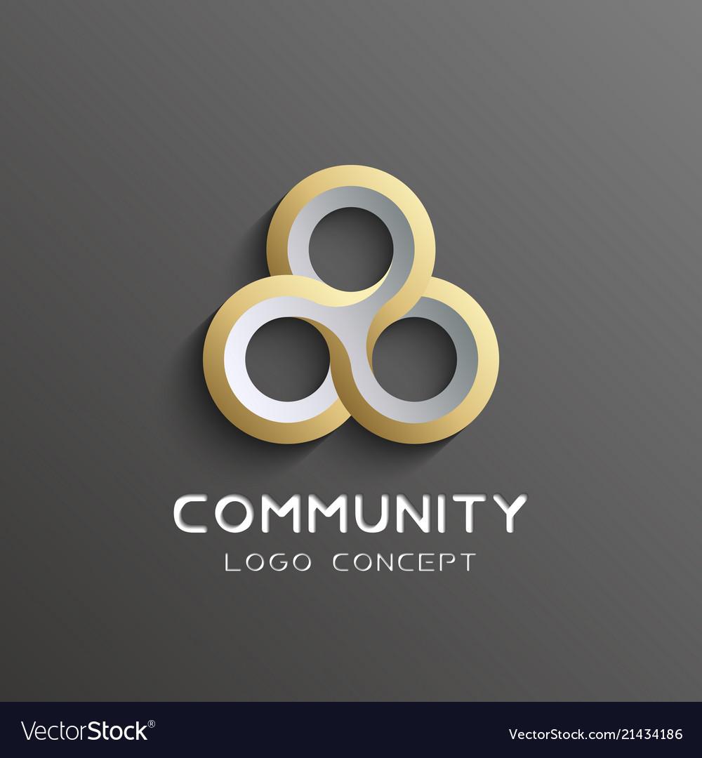 Teamwork logo social network logo design