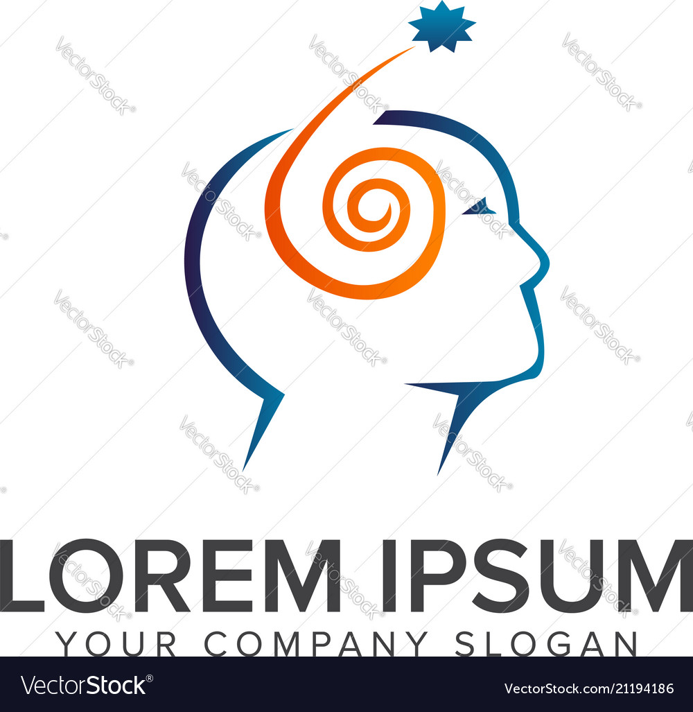 Think people logo head people design concept vector image