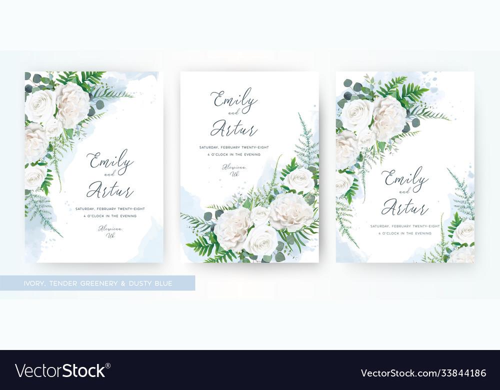 Wedding invite invitation watercolor floral card