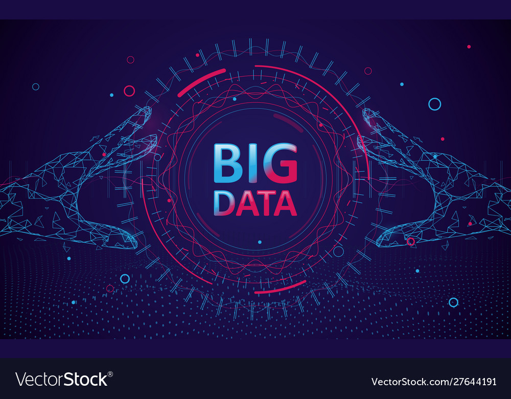 Abstract bigdata coding science background
