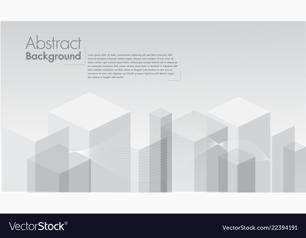 Abstract white background geometric shape
