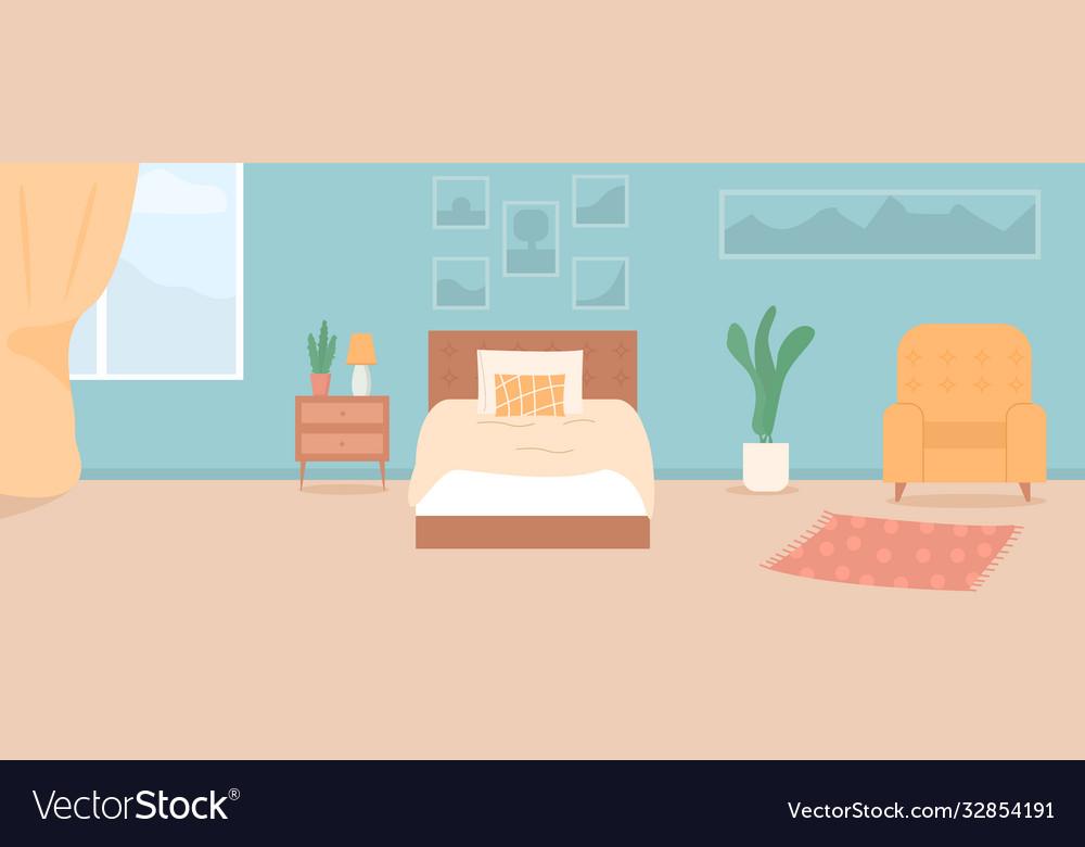 Cartoon cozy modern bedroom