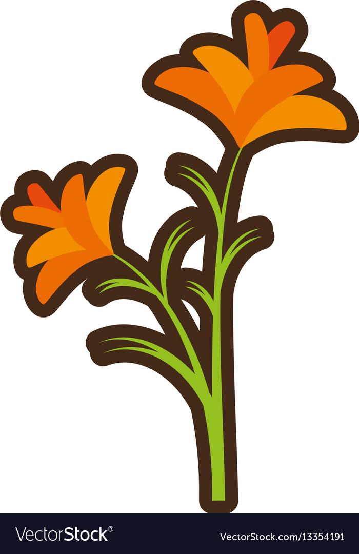 Cartoon freesia flower spring natural