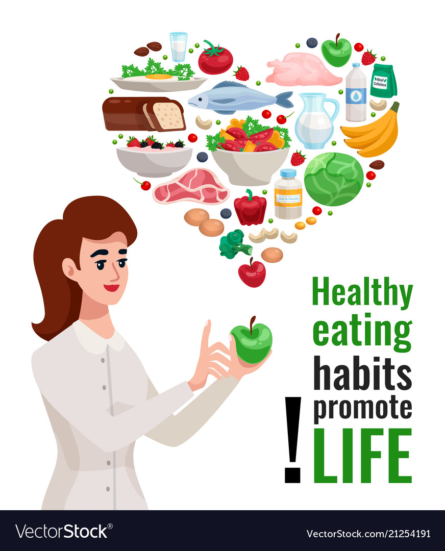 Healthy eating advertising poster