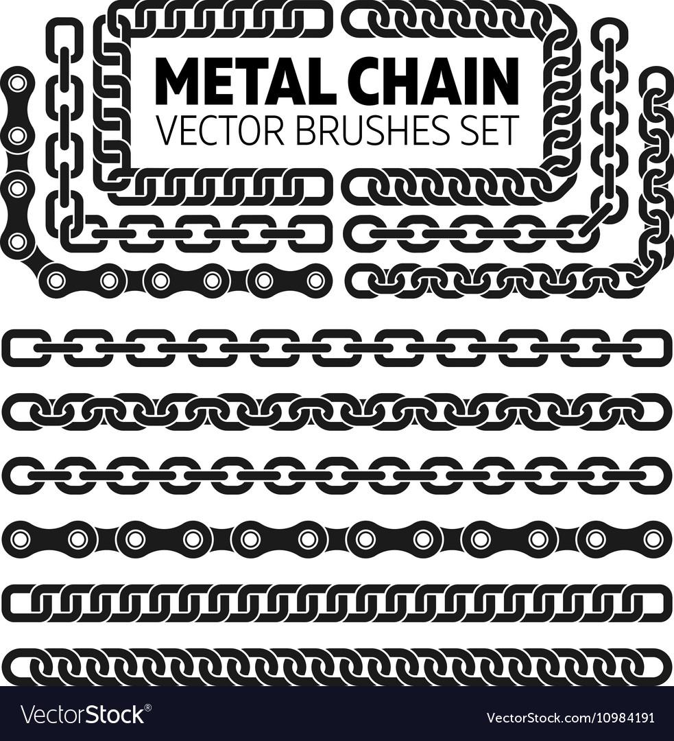 Metal chain links pattern brushes set