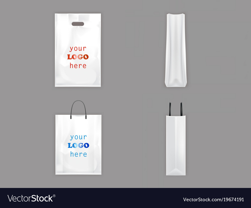 Plastic and paper shopping bags isolated 3d