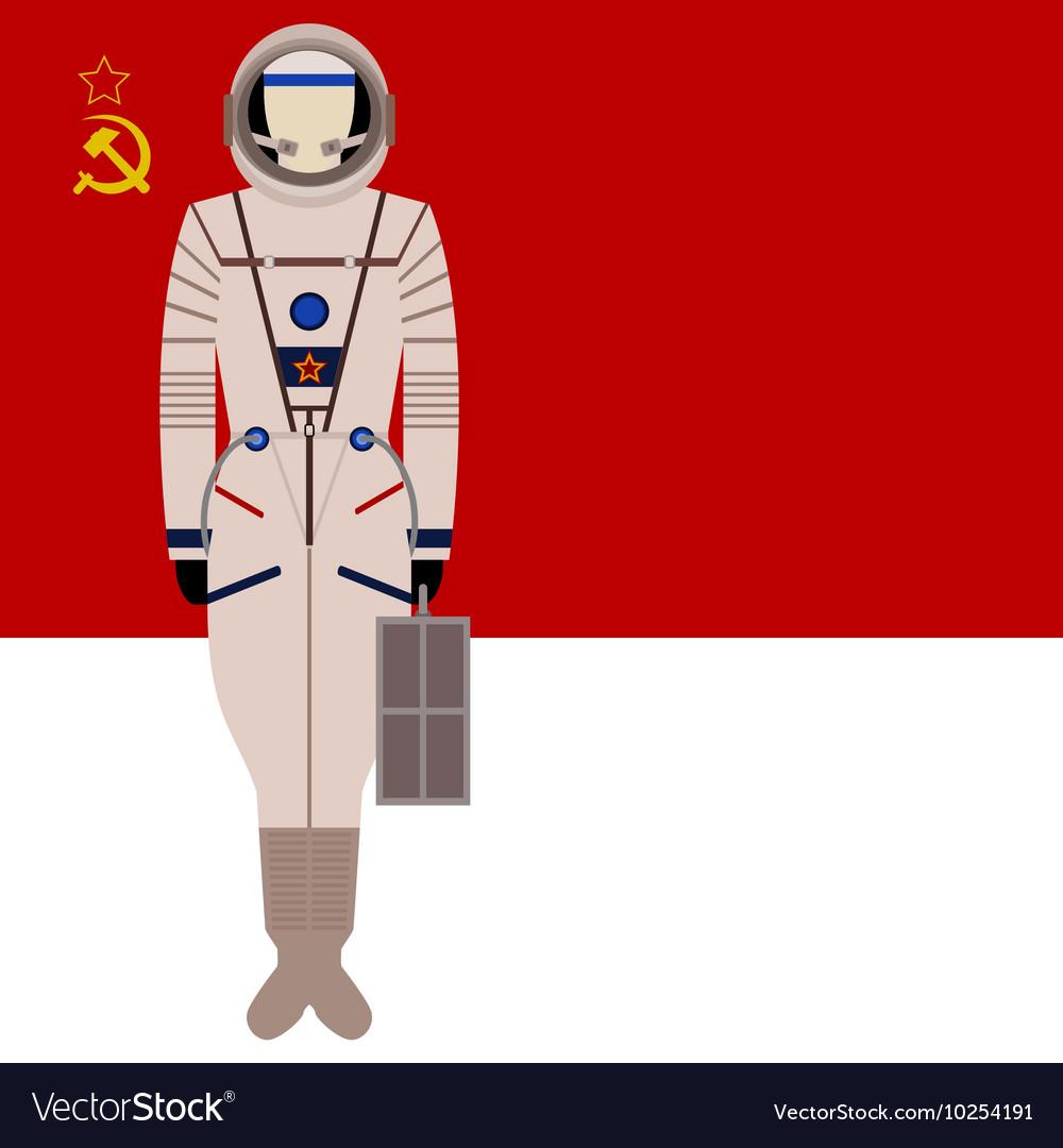 Soviet Space Suit Sokol KV 2 Vector Image