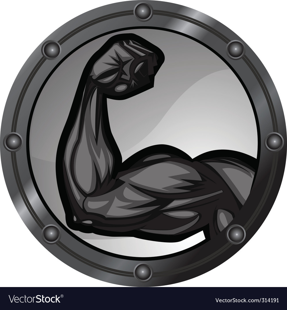 Strong arm vector image