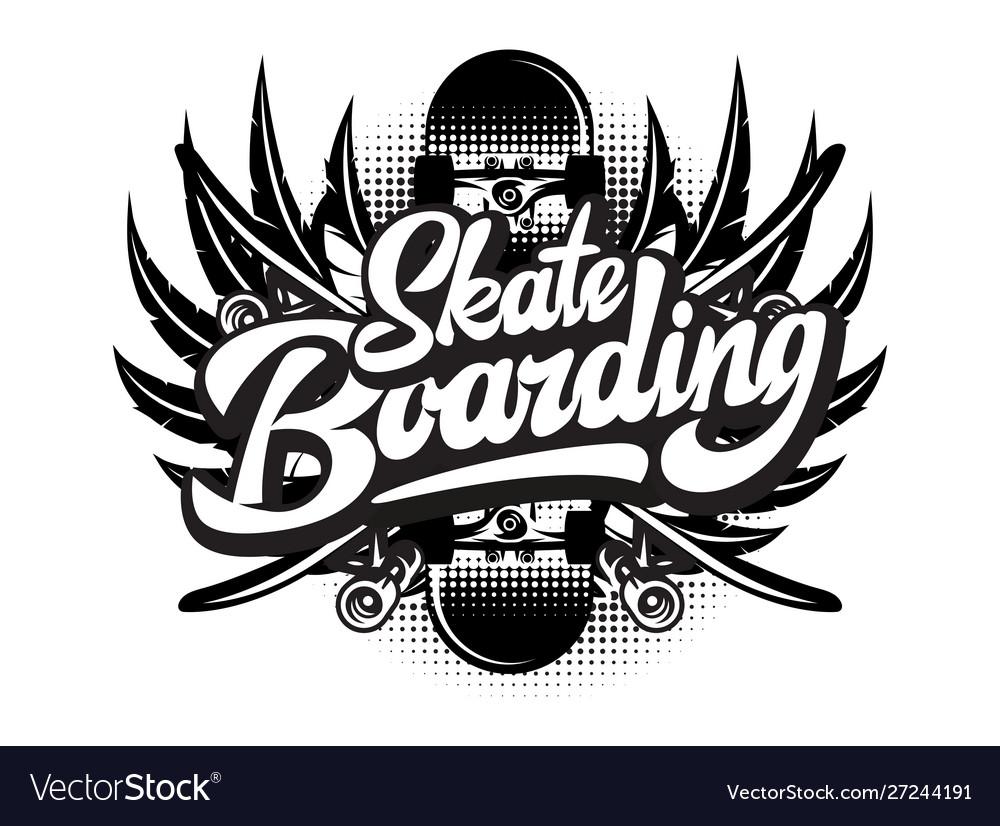 Stylish monochrome on skateboarding