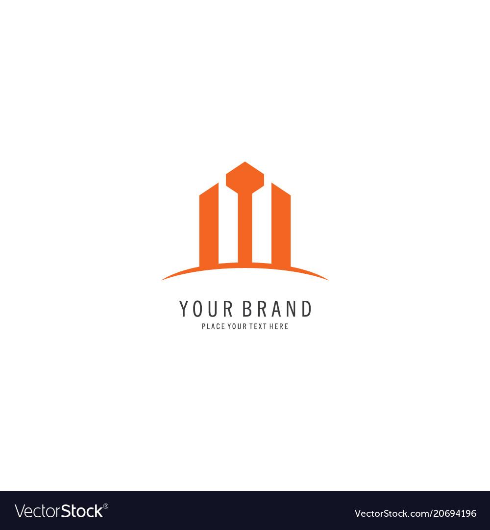 Building office symbol logo vector image