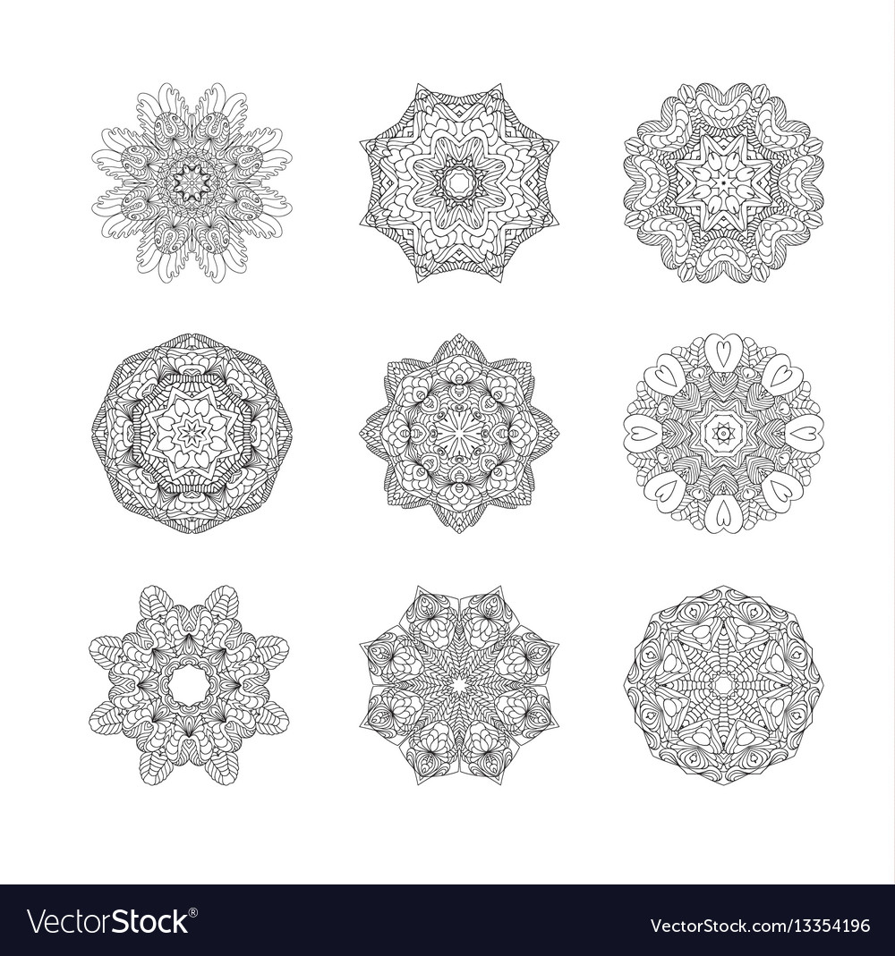 Circular pattern or oriental ornaments vector image