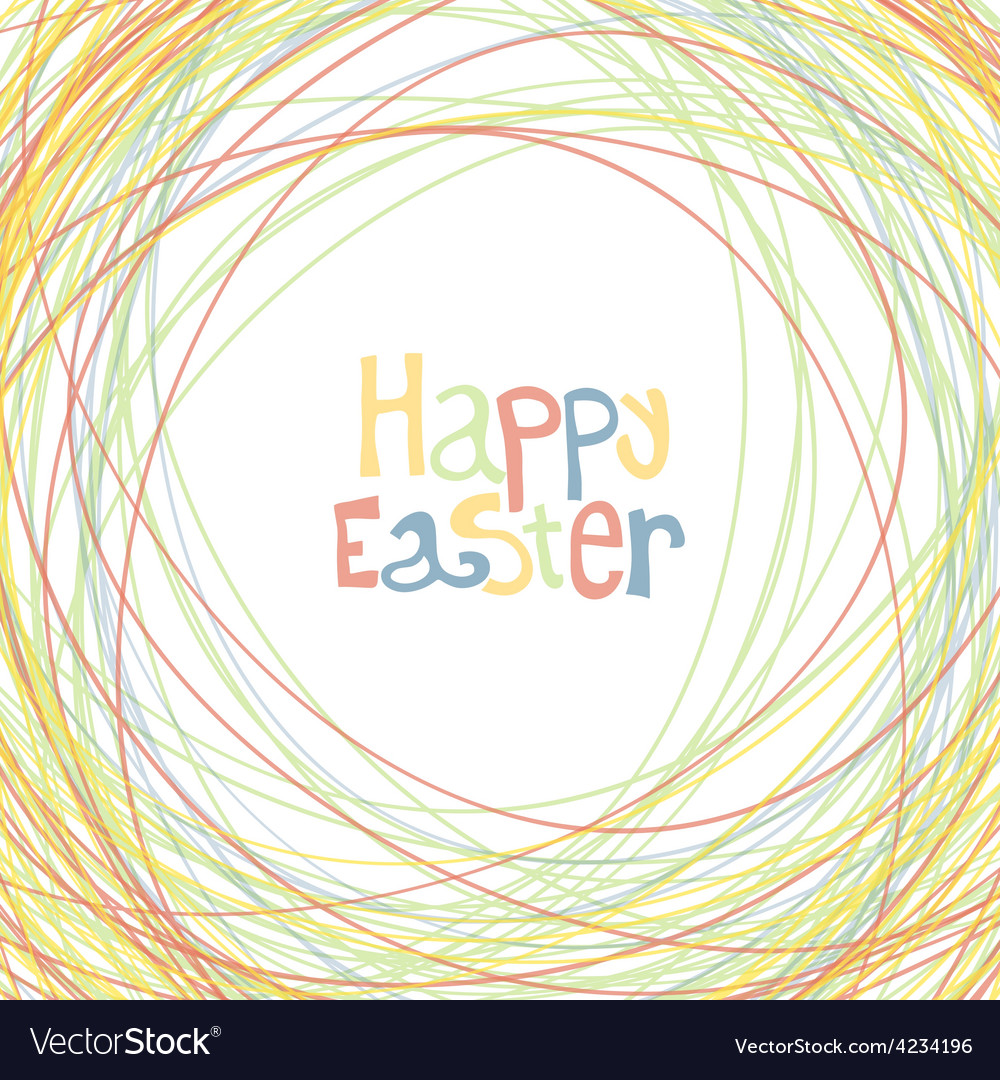Easter happy card
