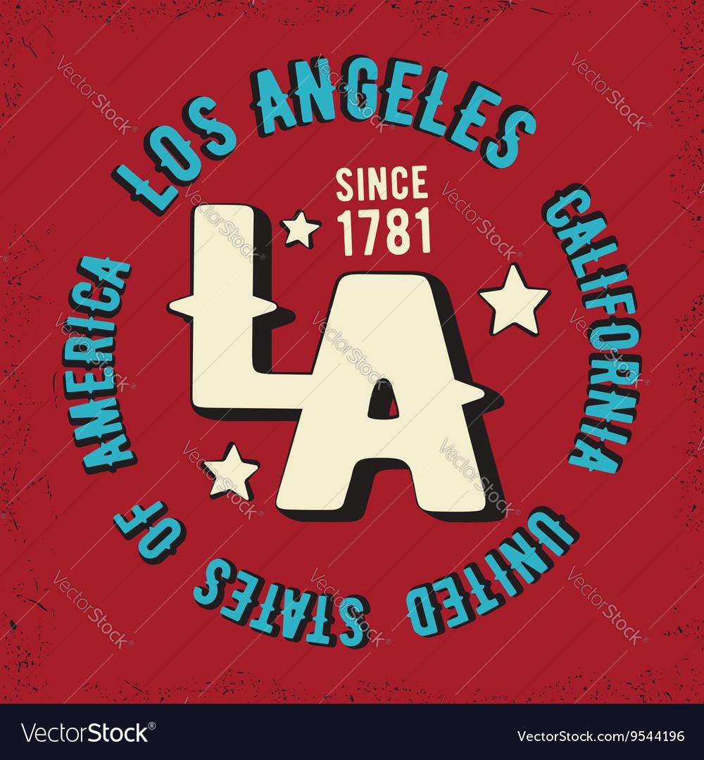 Los Angeles vintage stamp