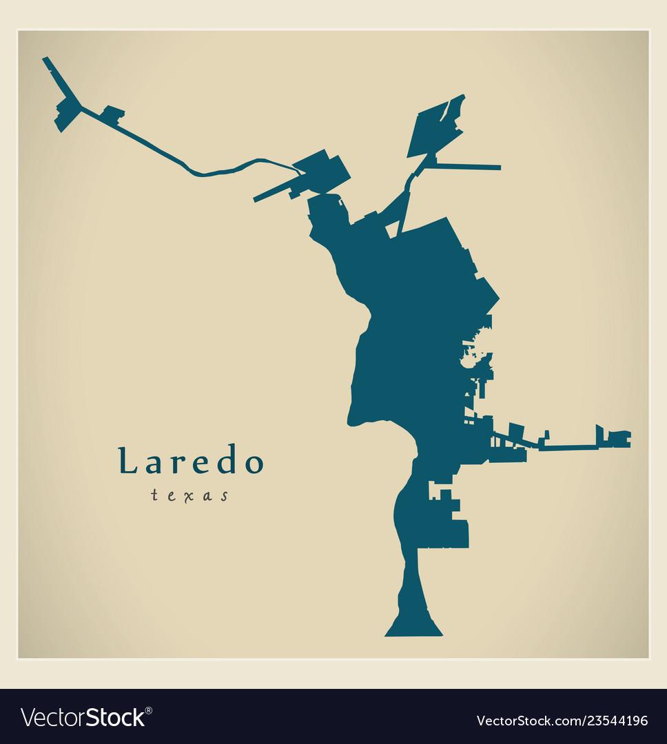 Map Of Texas Showing Laredo.Modern City Map Laredo Texas City Of The Usa