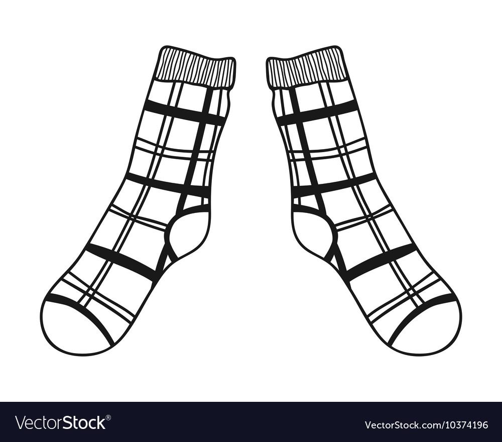 черно белый рисунок носок находилось