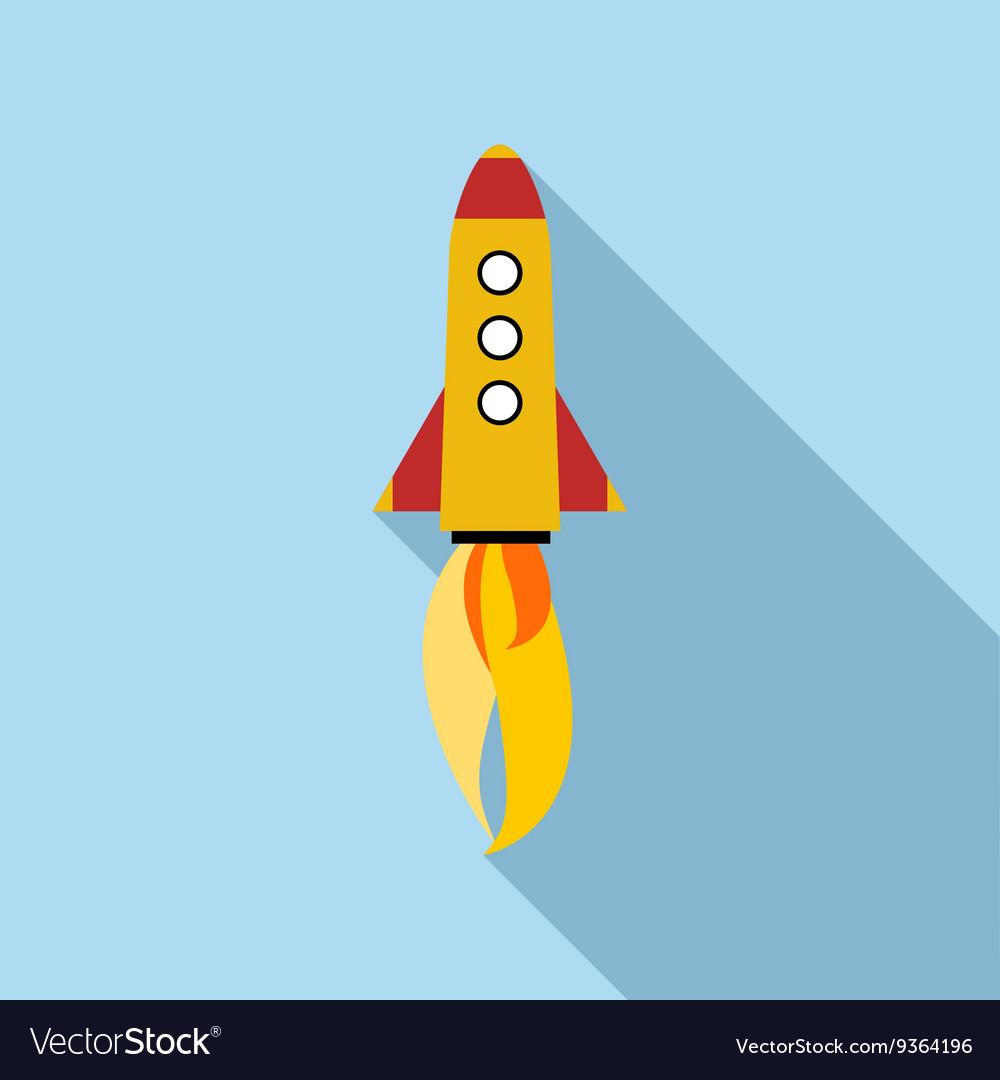 Rocket icon flat style