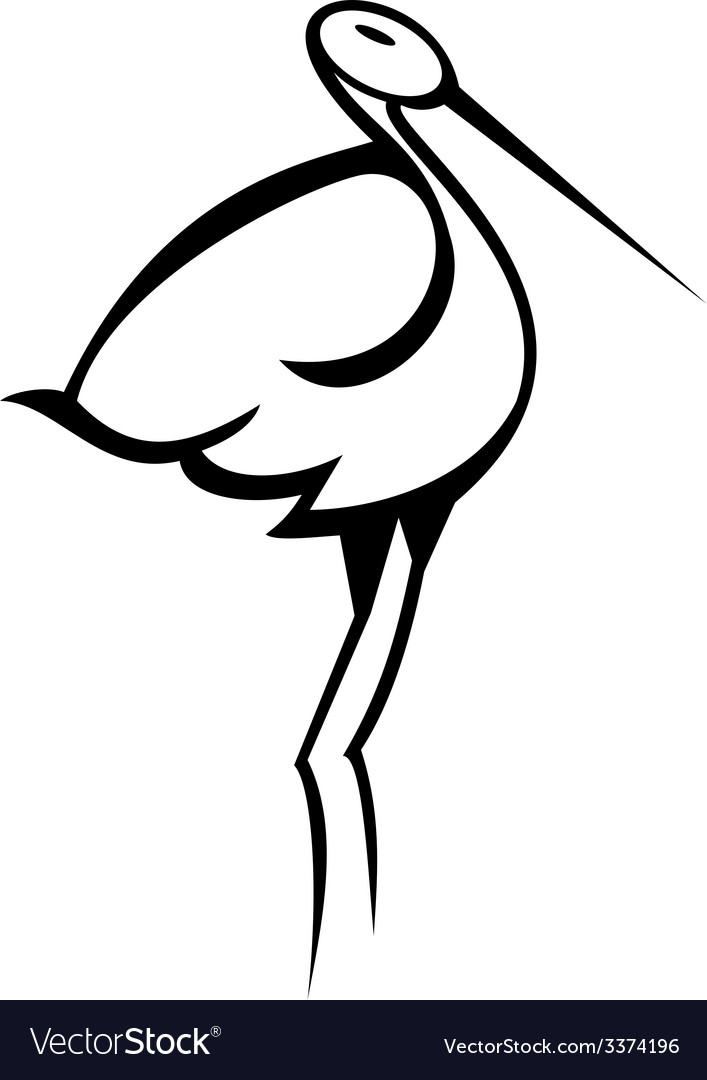 Stylised Stork vector image
