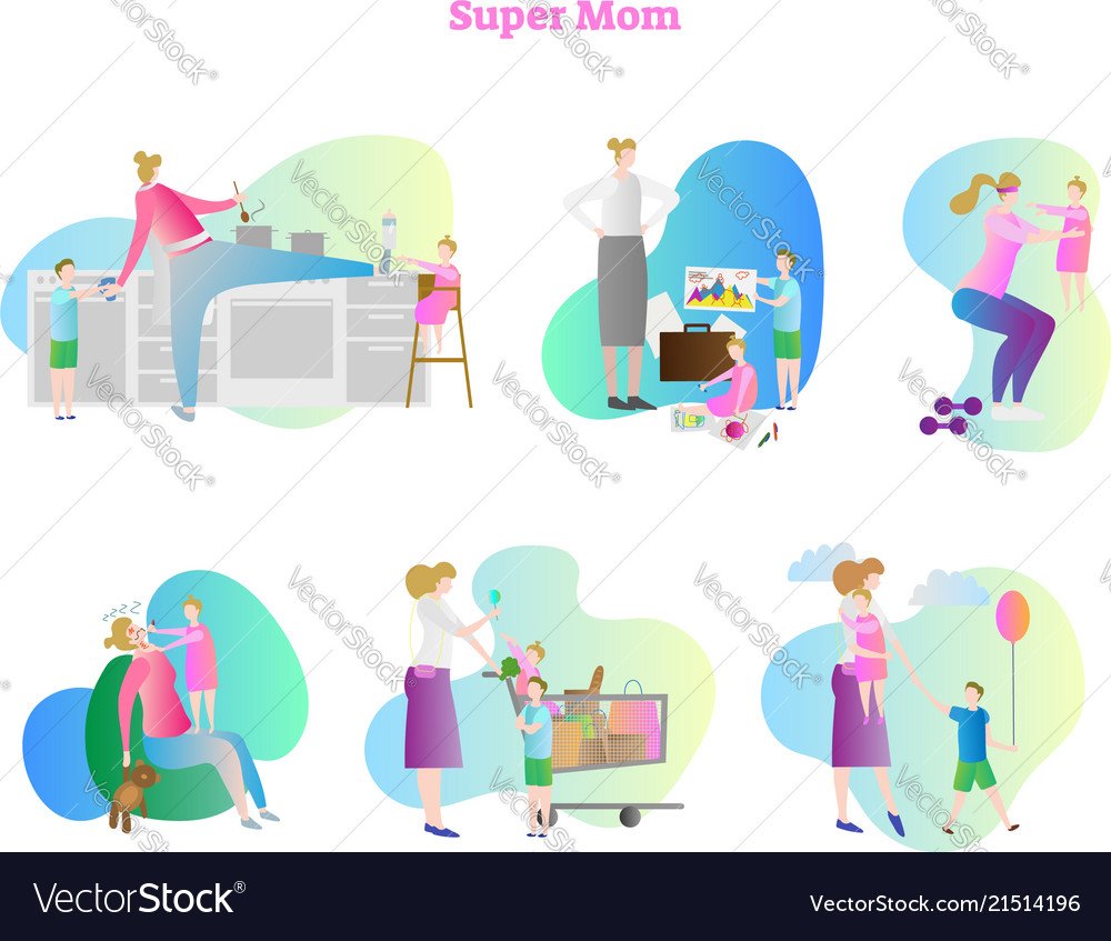 Super busy mom collection set