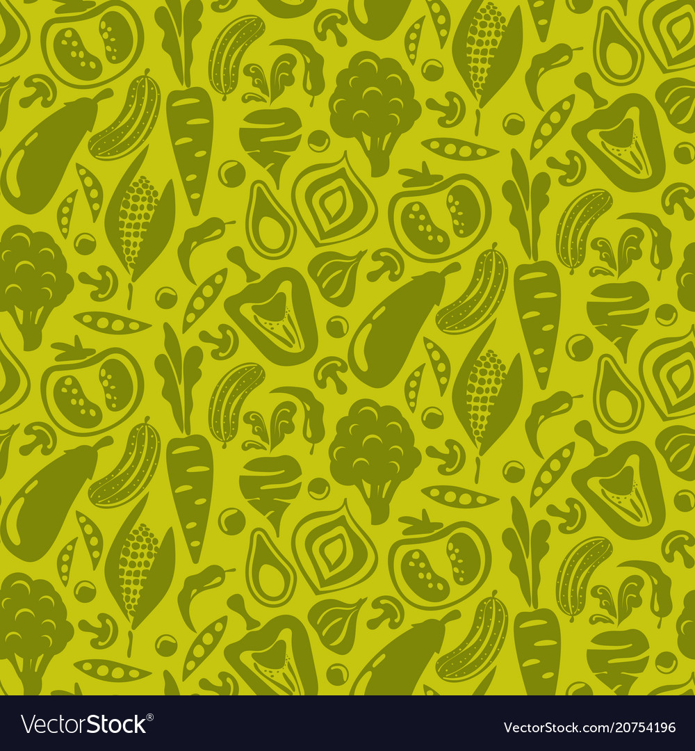 Vegetable green seamless background