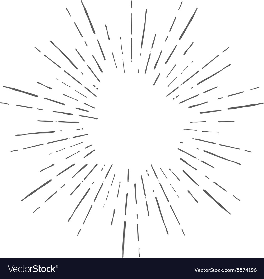 vintage hand drawn sunburst royalty free vector image rh vectorstock com vector transparent sunburst sunburst free vector