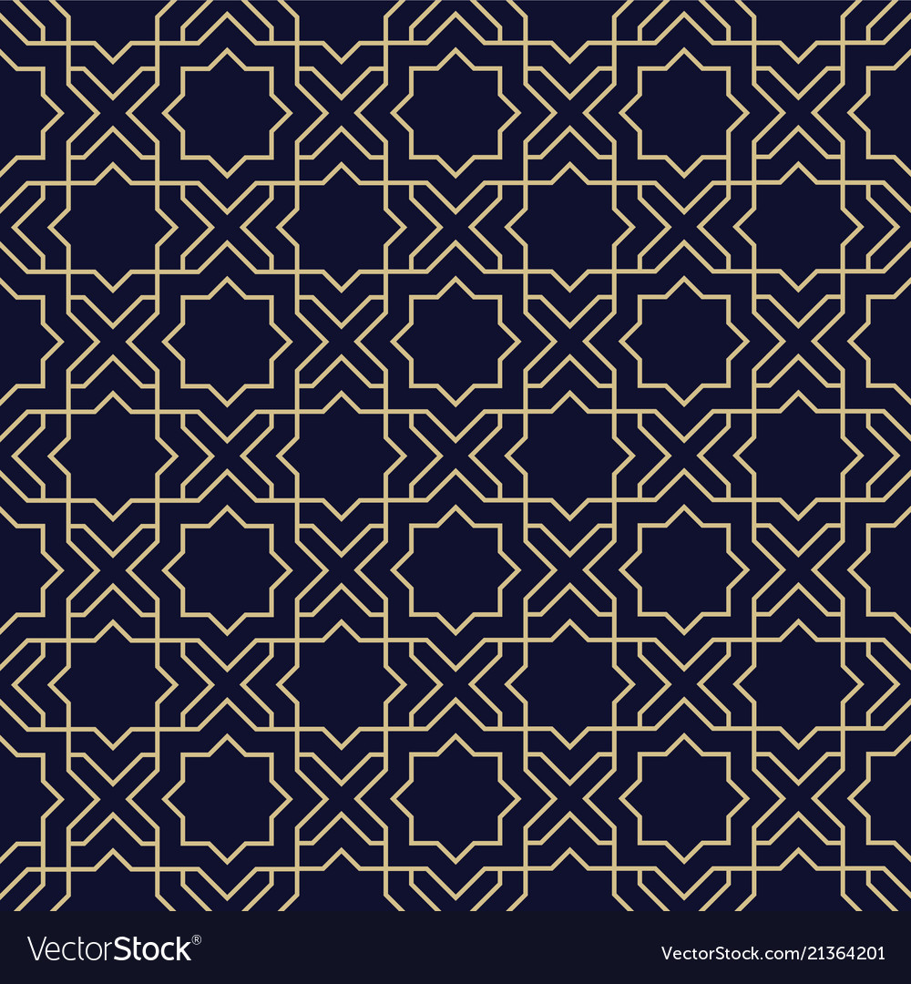 Abstract arabic seamless pattern with star