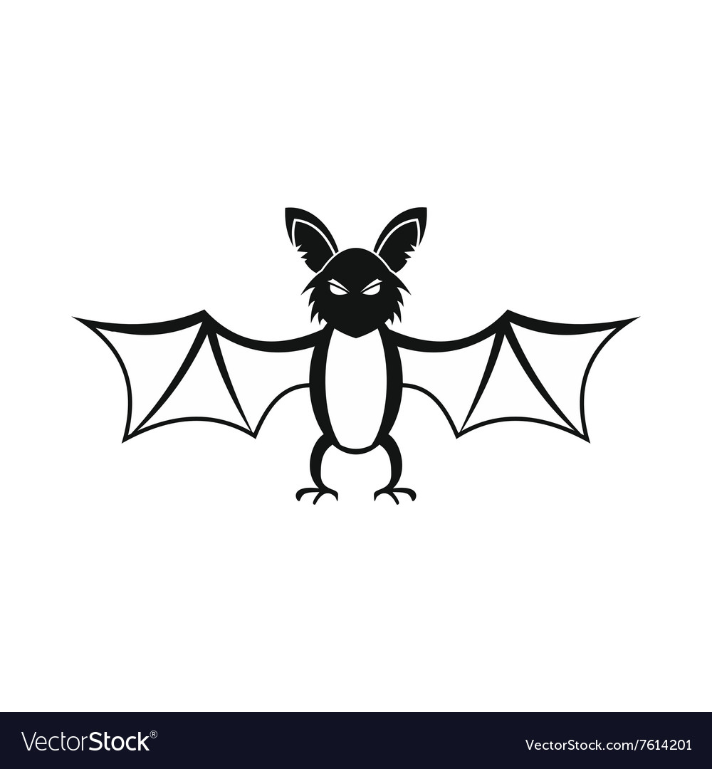 Bat icon black