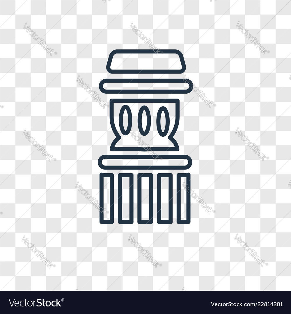 Column concept linear icon isolated on