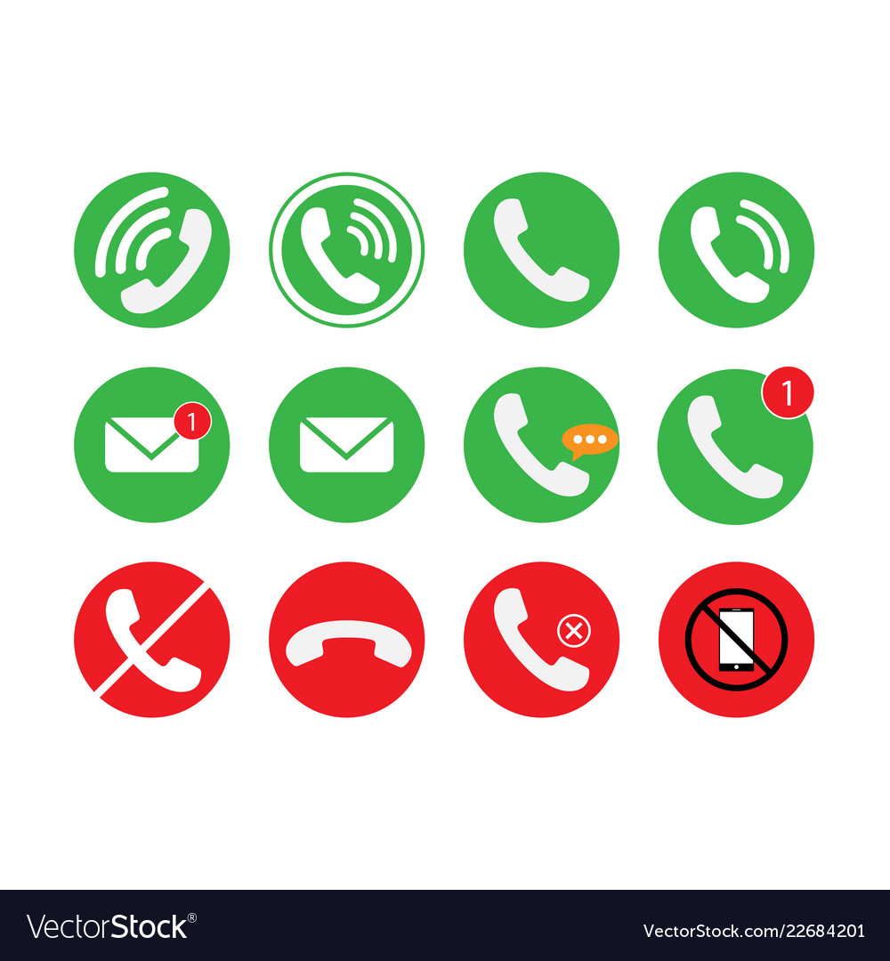 Communication of phone call email icon set