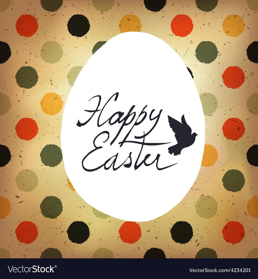 Easter polka dot retro card