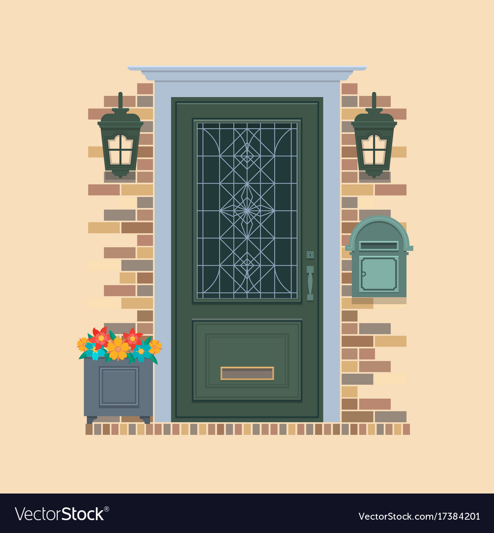 Elements of architecture front door background