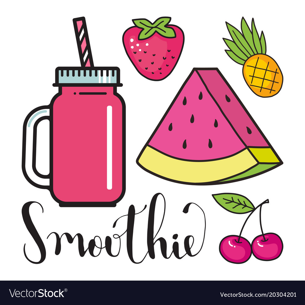 Glass jar with a smoothie