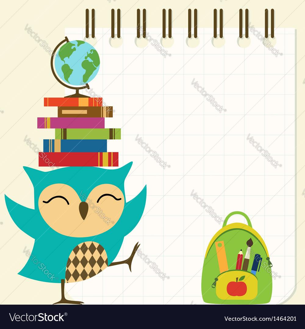 Happy little owl - back to school