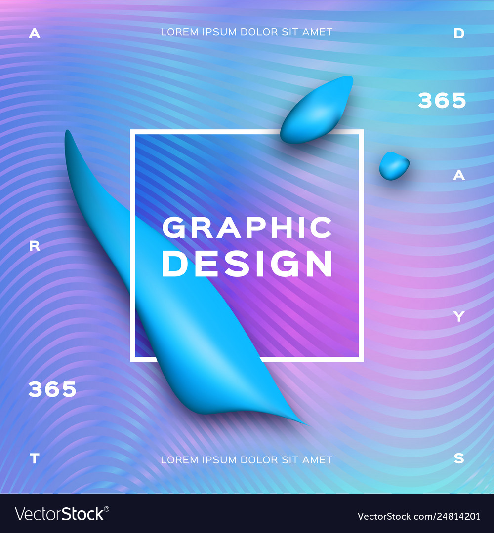 Holographic neon background gradient fluid shapes vector