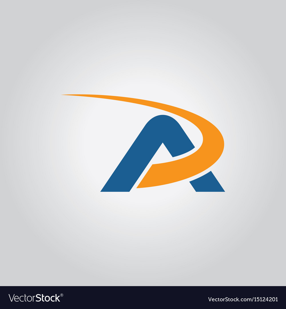 Letter a loop logo vector image