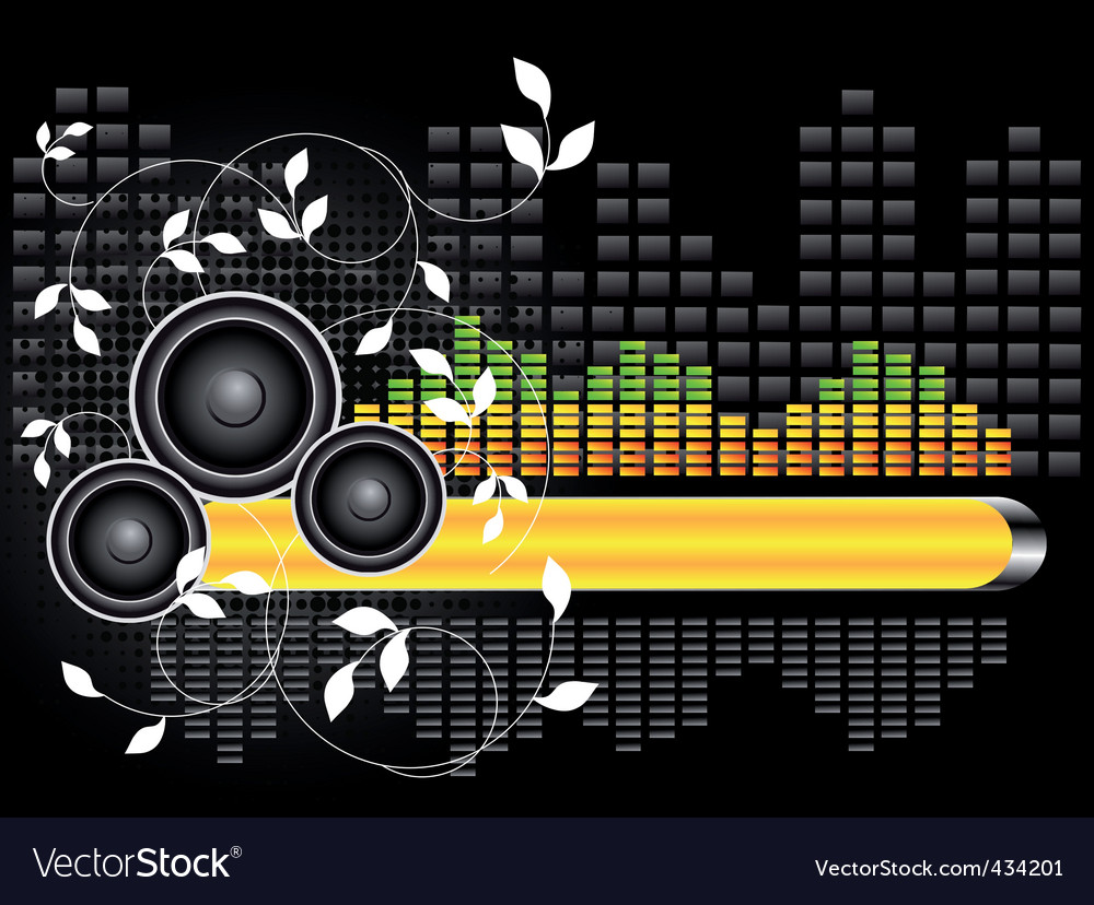 music background vector. Urban Music Background Vector