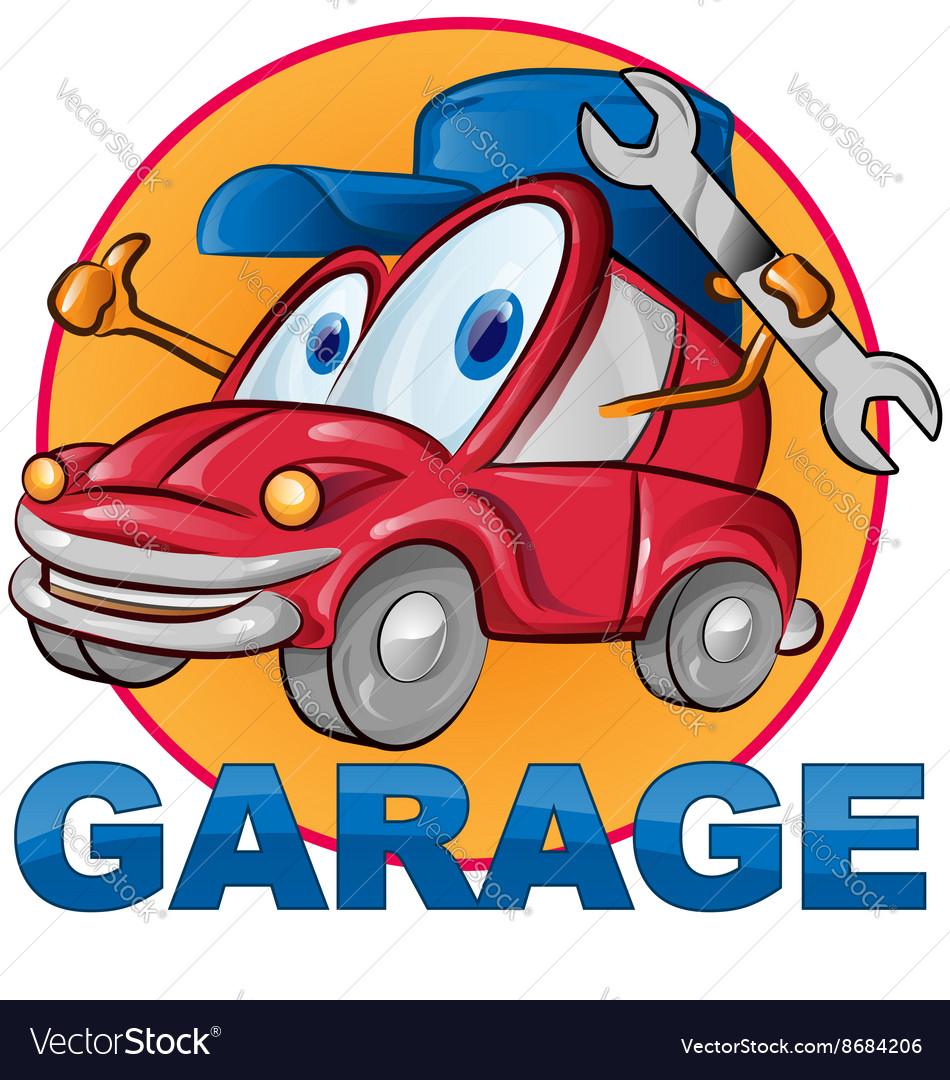 Car garage symbol cartoon