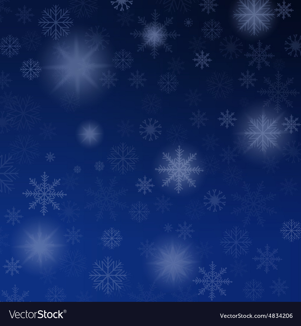 Christmas background blue with snowflakes
